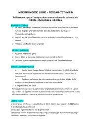 protocole prélèvement selnut - CNRS