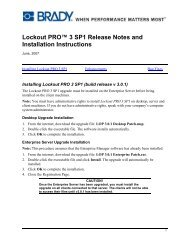 Lockout PRO™ 3 SP1 Release Notes and Installation Instructions