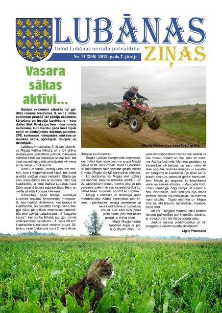 2013. gada 11. numurs - Lubānas novads