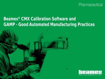 GAMP Good Automated Manufacturing Practices - Control System