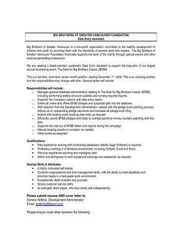 please submit along with resume and cover letter via email or hard