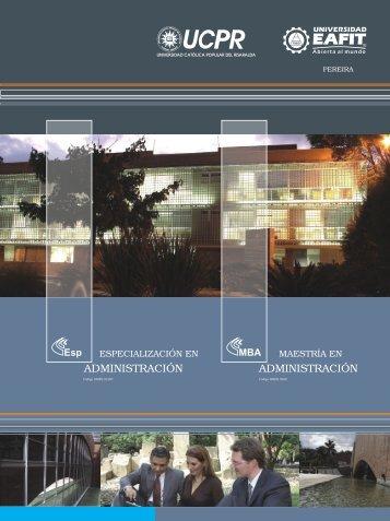 MBA Pereira PDF - Universidad EAFIT