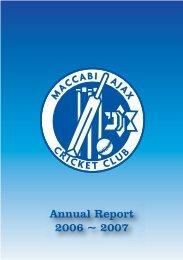 2006/07 Annual Report - Maccabi Australia