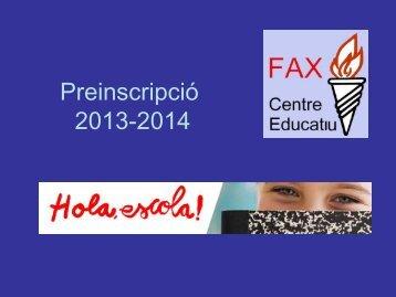 Presentació de la reunió realitzada a l'escola el 28/02/2013 - Centre ...