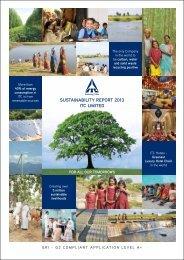 SUSTAINABILITY REPORT 2013 ITC LIMITED - ITC i