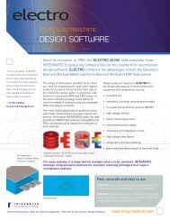 Electro product sheet - INTEGRATED Engineering Software