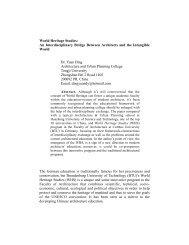 World Heritage Studies - ICOMOS Open Archive