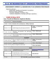 D.I.U. DE REANIMATION ET URGENCES PEDIATRIQUES