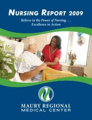 NURSING REPORT 2009 - Maury Regional Healthcare System