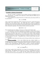 Analytical Electrochemistry: The Basic Concepts