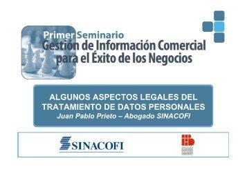 algunos aspectos legales del tratamiento de datos personales