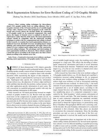 Mesh Segmentation Schemes for Error Resilient ... - IEEE Xplore
