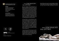 der ANTIKE das GESCHLECHT - Transformationen der Antike