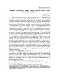 Globalised Economy and Localised Politics: Exploring the New ...