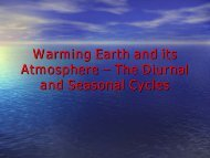 Warming Earth and its Atmosphere – The Diurnal and Seasonal ...