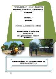 calibración de equipos - Universidad Autónoma de Chiapas