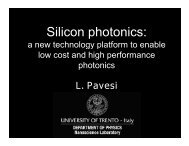 Silicon photonics: