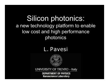 Silicon photonics: