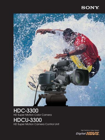 HDC-3300 HDCU-3300 - Sony Asia Pacific