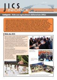 Aide aux agriculteurs défavorisés (KR2) Catégorie