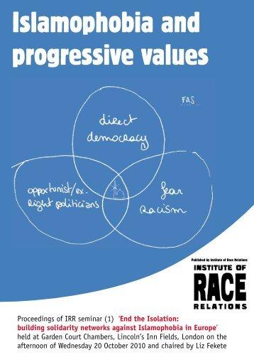 Islamophobia and Progressive Values - European Programme for ...
