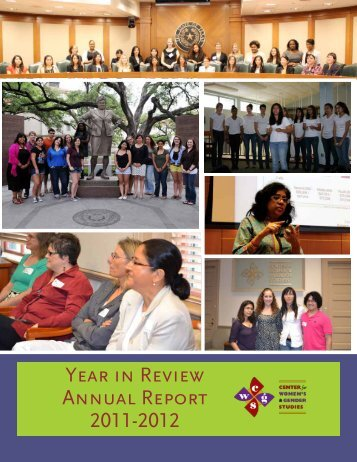 year in review annual report 2011-2012 - The University of Texas at ...