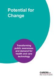 Potential For Change Carers UK - Social Welfare Portal