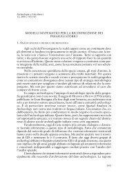 MODELLI MATEMATICI PER LA RICOSTRUZIONE DEI PAESAGGI ...