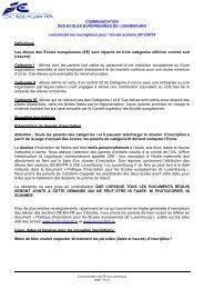 FR - Ecole Européenne de Luxembourg I