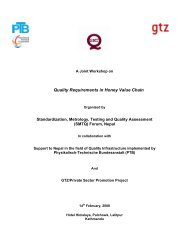 Quality Requirements in Honey Value Chain - smtqnepal.org