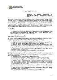 Edital - Chamada Pública nº 001-2011 - Generos ... - AMMOC