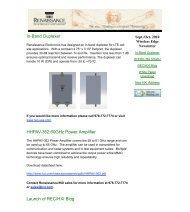 Sept/October 2010 Newsletter - Renaissance Electronics Corporation