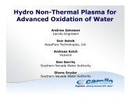 Hydro Non-Thermal Plasma for Advanced Oxidation of Water
