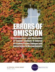 Errors of Omission, Transparency and Disclosure ... - Inside Higher Ed
