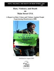 Hate, Violence, and Death on Main Street USA - National Coalition ...