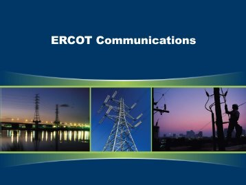 ERCOT Communications - Public Utility Commission of Texas