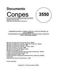 Conpes 3550 - Ministerio de Vivienda