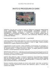 INVITO E PROCEDURA DI GARA - Comune di Rivalta di Torino