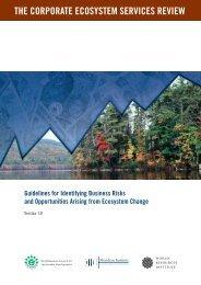 the corporate ecosystem services review - Sustentabilidad.uai.edu.ar