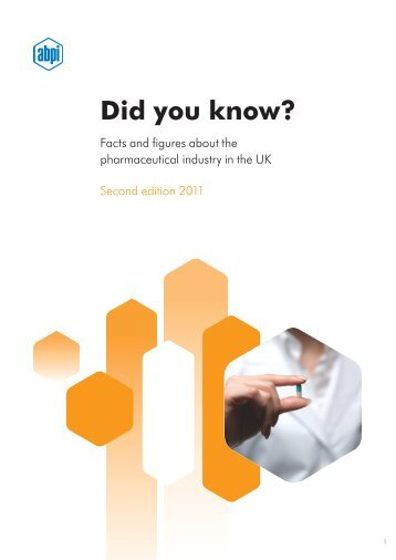 Did you know? - Association of the British Pharmaceutical Industry