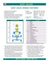 DPV® API 600 Gate Valves - Delta Pacific Valve