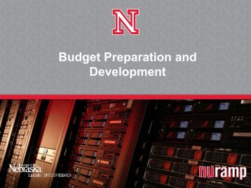 Budget Preparation and Development - Office of Research ...