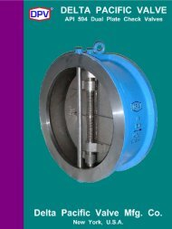 DPV® API 594 Dual Plate Wafer Check Valves - Delta Pacific Valve ...
