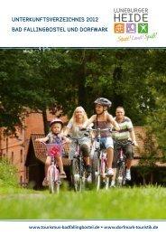 Gastgeberkatalog 2012 - Dorfmark Touristik eV