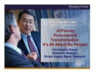 JCPenney Procurement Transformation: It's All About the ... - Summit