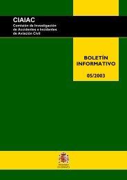 Boletin Informativo 05/2003 - Ministerio de Fomento