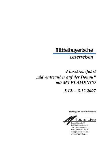 """Flusskreuzfahrt """"Adventszauber auf der Donau"""" mit MS FLAMENCO ..."""
