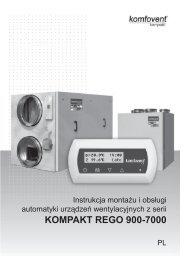 KOMPAKT REGO 900-7000 - Komfovent
