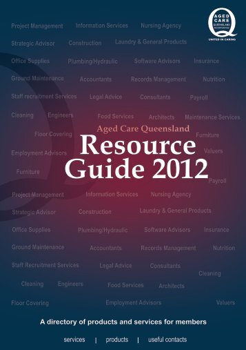 Resource Guide 2012 - Leading Age Services Australia ...