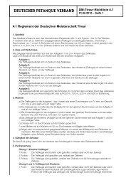 DEUTSCHER PETANQUE VERBAND DM-Tireur-Richtlinie 4.1